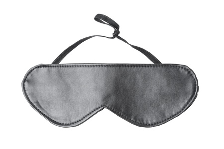black leather eyes mask isolated on white background Stock Photo - 18258349
