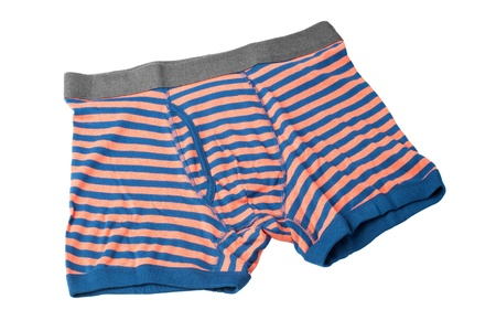 boxer shorts: striped male underwear boxers isolated on white background