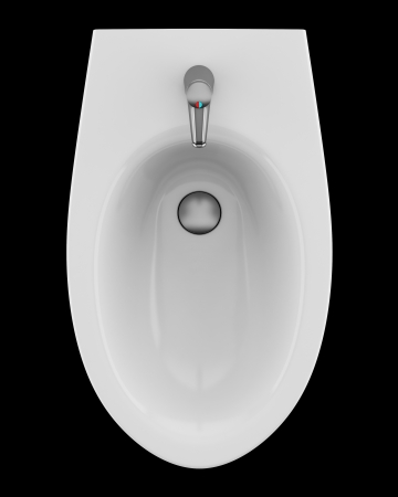 top view of ceramic bidet isolated on black background Stock Photo - 19237495