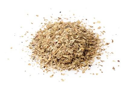 yerba mate: té de yerba mate aislado en fondo blanco Foto de archivo