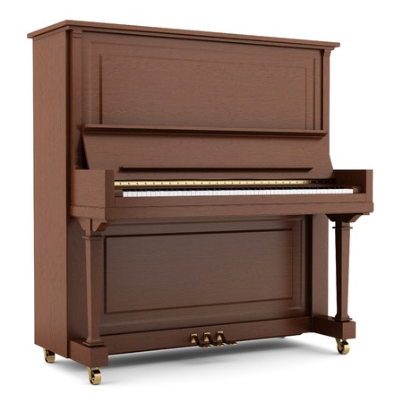 brown piano isolated on white background Фото со стока - 20597474
