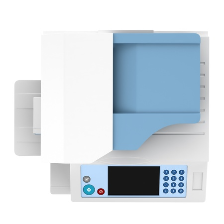 top view of modern office multifunction printer isolated on white background Stock Photo - 20915893