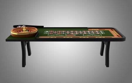 ruleta de casino: mesa de ruleta aislado en fondo de color gris