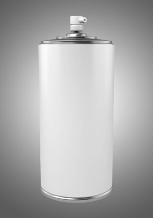paint spray can isolated on gray background photo