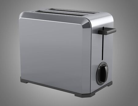 toaster: toaster isolated on gray background