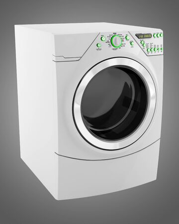 wash machine isolated on gray background photo