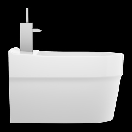 side view of ceramic bidet isolated on black background Stock Photo - 21362350