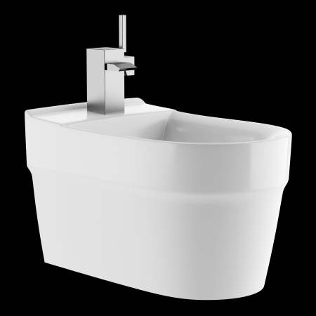 ceramic bidet isolated on black background Stock Photo - 21362351