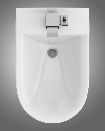 top view of ceramic bidet isolated on gray background Stock Photo - 21362389