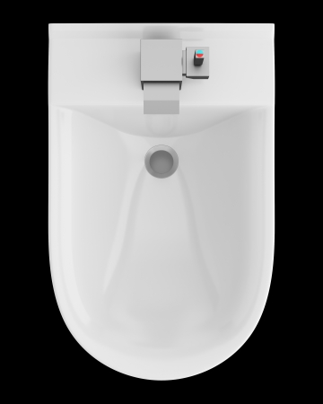 top view of ceramic bidet isolated on black background Stock Photo - 21473122