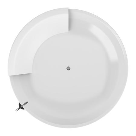 modern round bathtub isolated on white background photo