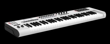 gray synthesizer isolated on black background