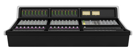 studio sound mixer isolated on white background