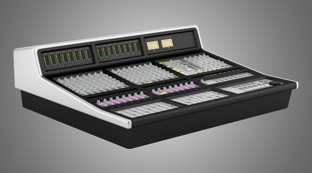 studio sound mixer isolated on gray background Stock Photo - 21901640