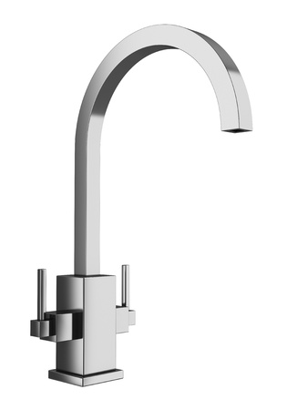 modern faucet isolated on white background