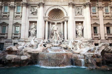 famous Fountain di Trevi in Rome, Italy photo