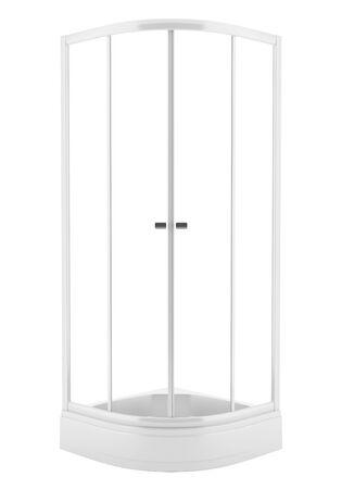 cabine de douche: cabine de douche isolé sur fond blanc