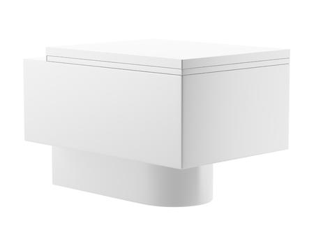 single modern toilet bowl isolated on white background photo
