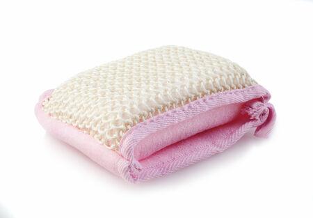 wisp: roze bad wisp op een witte achtergrond Stockfoto