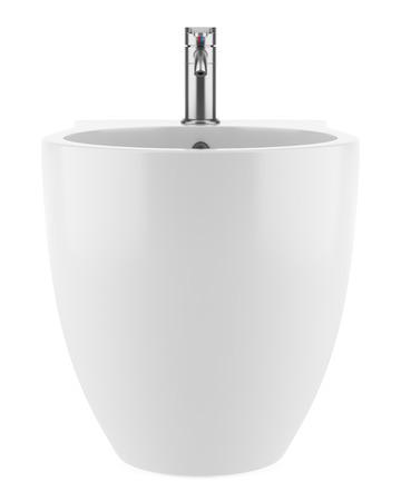 bidet: ceramic bidet isolated on white background