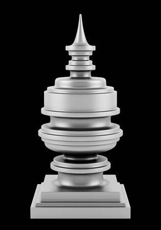 black metallic background: metallic vase isolated on black background