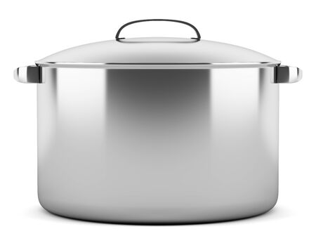 cooking pan isolated on white background photo