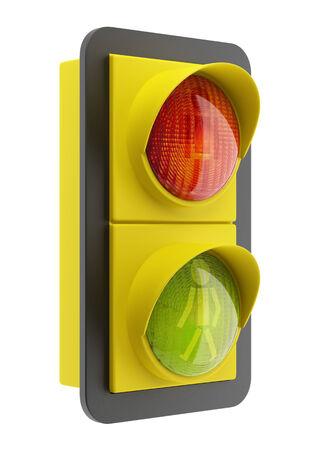 semaphore: traffic light isolated on white background