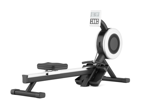 gym rowing machine isolated on white background Stok Fotoğraf - 42069442