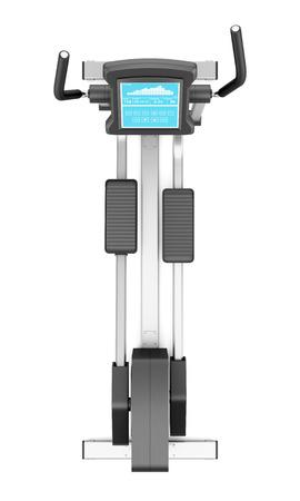 eliptica: vista superior de la máquina elíptica aislada en el fondo blanco
