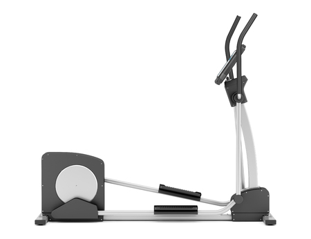 elliptical: elliptical cross trainer isolated on white background Stock Photo