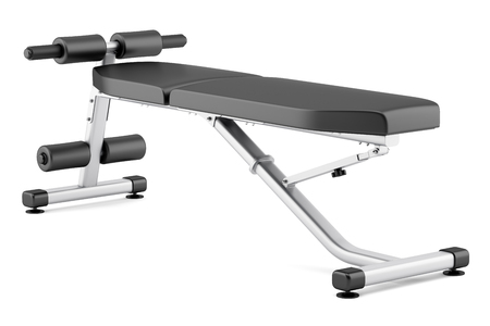 adjustable: adjustable gym bench isolated on white background