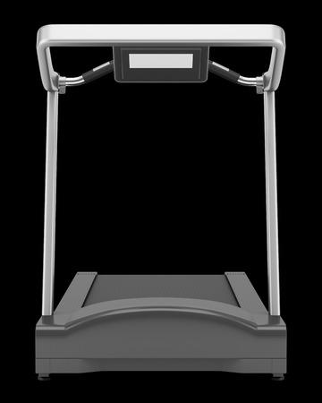 treadmill: treadmill isolated on black background