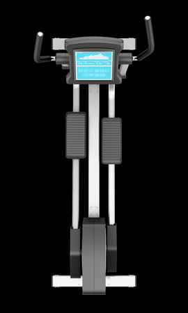 elliptical: top view of elliptical cross trainer isolated on black background