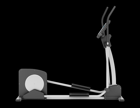 eliptica: m�quina el�ptica aislada sobre fondo negro