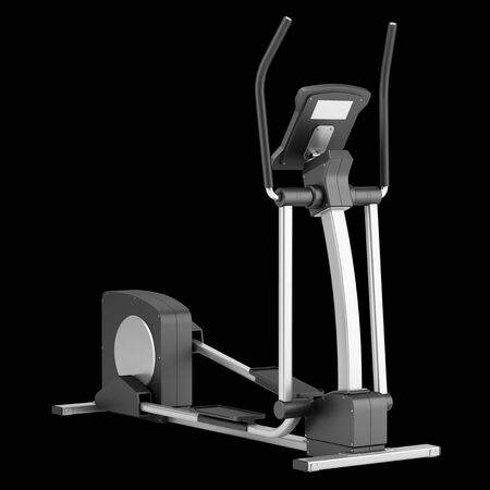 elliptical: elliptical cross trainer isolated on black background Stock Photo