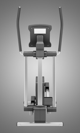 trainers: elliptical cross trainer isolated on gray background Stock Photo