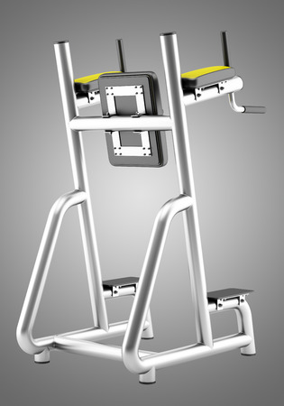 isolated on gray: gym roman chair isolated on gray background