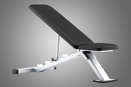 benches: adjustable gym bench isolated on gray background