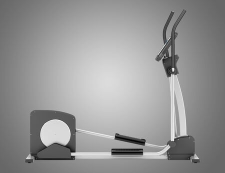eliptica: máquina elíptica aislada sobre fondo gris
