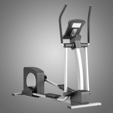 isolated on gray: elliptical cross trainer isolated on gray background Stock Photo