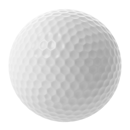 ball isolated: golf ball isolated on white background