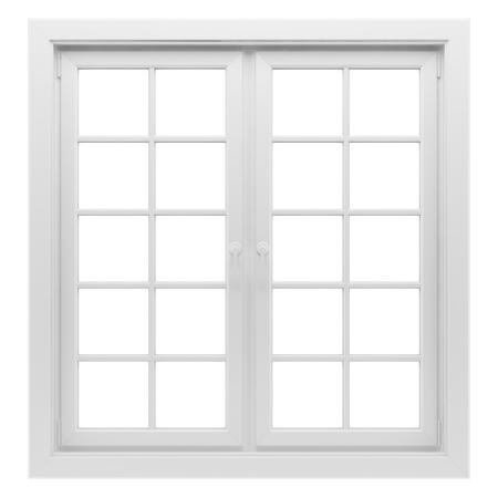 흰색 배경에 고립 된 창