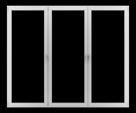 isolated on gray: gray metallic window isolated on black background Stock Photo