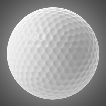 golf ball: golf ball isolated on gray background