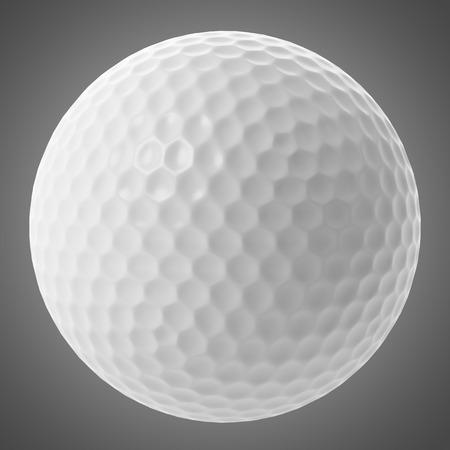 golf  ball: pelota de golf aislado en fondo gris