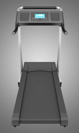 isolated on gray: treadmill isolated on gray background