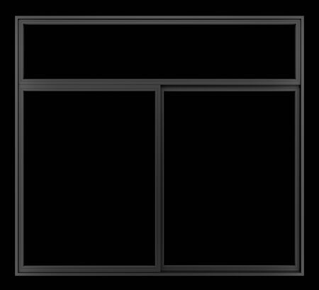 black metallic background: black metallic window isolated on black background Stock Photo