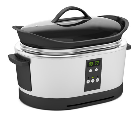slow cooker isolated on white background