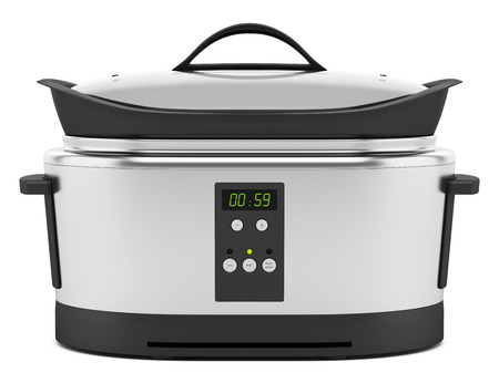 slow cooker: slow cooker isolated on white background