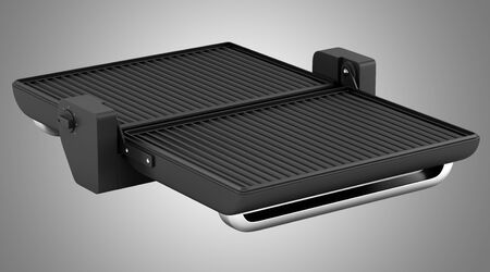 isolated on gray: electric grill isolated on gray background